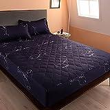 HAIBA Funda protectora de colchón acolchada de microfibra suave que se ajusta perfectamente a la sábana encimera de microfibra (200 x 220 cm)