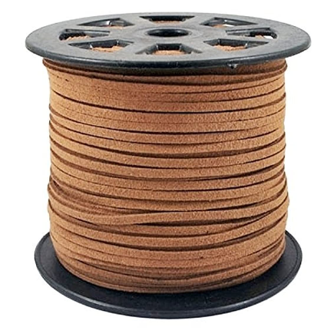 BeadsTreasure Burly Wood Suede Cord Lace Leather Cord For Jewelry Making 3x1.5 mm-20 Feet.