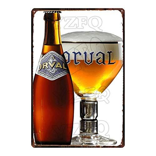 ADFGUYI Botella de Cerveza Letrero de Metal Vintage Cartel de Chapa Bar Café Garaje Cartel de Pared Art Deco Placa de Hierro 20x30cm 7