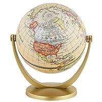 HARO レトロ回転世界地球地球アンティークホームオフィスデスクトップ装飾地理教育学習マップ学用品