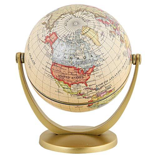 BMYUK Retro Giratorio Mundo Globo Tierra ntigua Oficina en Casa DecoracióN de Escritorio GeografíA Mapa de prendizaje Educativo úTiles Escolares
