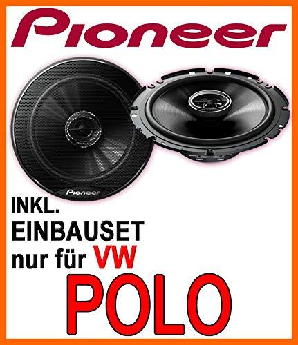 Lautsprecher - Pioneer TS-G1720F - 16cm 2-Wege 300 Watt Koax Einbauset für VW Polo 9N & 9N3 - JUST SOUND best choice for caraudio