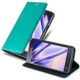 Cadorabo Funda Libro para Samsung Galaxy J5 2015 en Turquesa Petrol - Cubierta Proteccíon con Cierre Magnético, Tarjetero y Función de Suporte - Etui Case Cover Carcasa