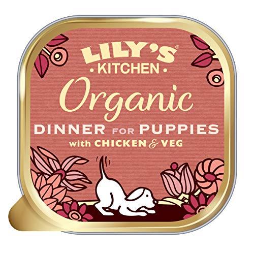 Lilys Kitchen 65229 Hond Biologisch Avondeten Voor Puppys 150g, Kip, Pack of 11