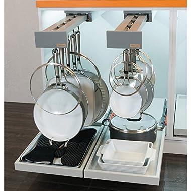 Glideware Pan 7 Hook Utility Organizer with Blum Runners by Glideware