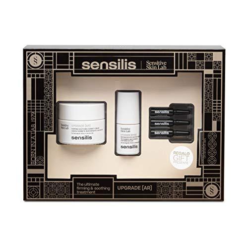 Sensilis Upgrade - Kit de Belleza Reafirmante con Crema Antirojeces (50 ml) + Contorno de Ojos (15 ml) + Ampollas Faciales (3 X 1,5 ml)