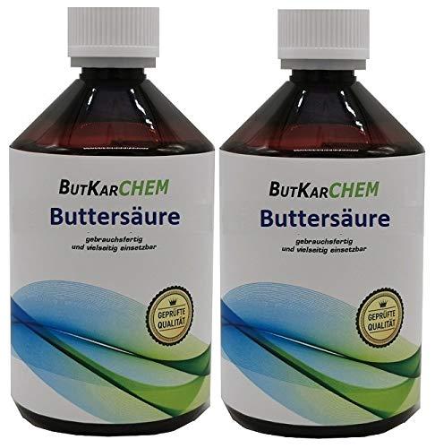 ButKarCHEM Reg.465608 2x500 Buttersäure 99% Carbonat Bis 13 Uhr bestellen, am selben Tag verschickt. C3H7COOH (2x500ml)