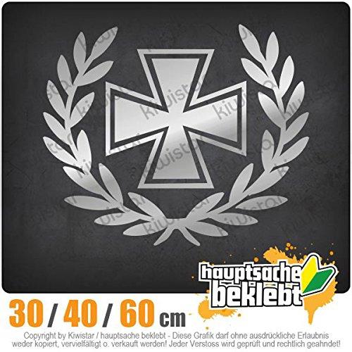 Kiwistar - Eisernes Kreuz Lorbeerkranz Heckscheibenaufkleber Carsticker Decal