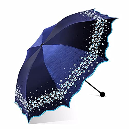 Sun Umbrella 3 Descuento Creativo Plegable Paraguas Ultraligero sombrilla Sol plástico Negro Resistente al Viento Compacto liviano Negocio viaja un Paraguas portátil de Alto Grado