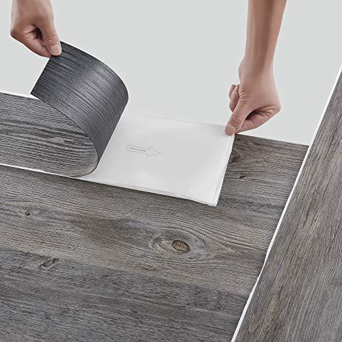neu.holz Pisos de Vinilo-PVC Decorativo Diseño de Pisos laminados 7 planchas Decorativas = 0,975 m² Suelo Autoadhesivo Roble Gris Alaska (Grey Alaska Oak)