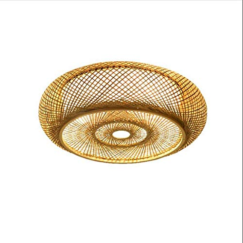 Lighfd E27 Vintage bamboe geweven Lamp Head Original Ecological Hotel Rattan Bamboo Project Chandelier Hotel Restaurant Lamp, Hotel Lobby Light (40cm, 50cm, 60cm)