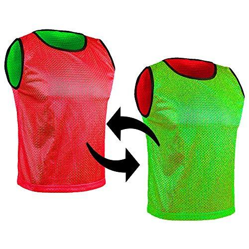SPORTSBIBS Petos de fútbol para niños y adultos, copas reversibles, 2 colores, camiseta de entrenamiento de doble cara para juegos de equipo, unisex, jóvenes, mayores, muchos colores y tamaños