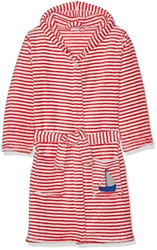 Playshoes Kinder Fleece-Bademantel, Rot (Rot/Weiß 44), 134/140
