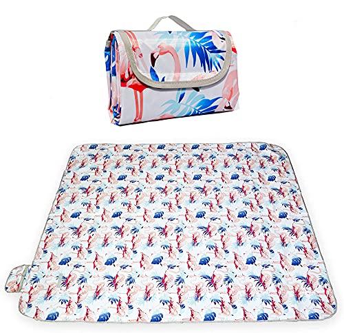 RXXR Manta de pícnic de 200 x 200 cm, manta de pícnic, imp