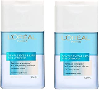 L'Oreal Dermo Expertise Gentle Eye Makeup Remover 2 X 125 ml, Pack of 1