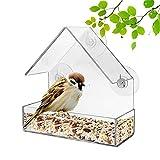 Comedero Pájaros De Ventana,Comedero Pájaros Ventana acrílica,Comedero Pájaros Acrílico,Ventana Casa del Pájaro,para Balcón Ventana Al Aire Libre Alimentación Aves Silvestres Pájaro Mascota