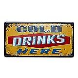 Vektenxi 1X Rétro Boissons Boite En Métal Panneau De Publicité Panneau De Fer Plaque Affiche Décoratif en Étain pour La Maison Salle Café Bar Pub Pratique Rentable et Durable