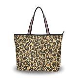 Ahomy Große Reisetasche, Goldenes Leopardenmuster, Strandtasche, Urlaub, Einkaufstasche, Mehrfarbig...