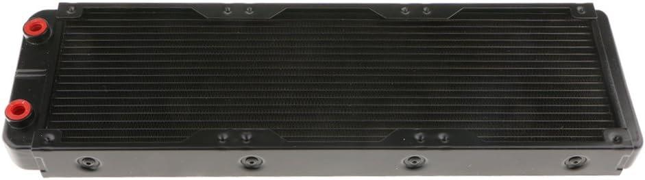 B Blesiya Filamenti di Raffreddamento dallacqua Radiatore per PC per Dissipatore di Calore CPU 360mm Nero Bocca Filettata