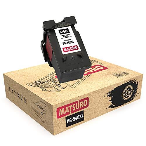 Matsuro Original | Kompatibel Remanufactured Tintenpatrone Ersatz für Canon PG-540XL PG-540 (1 SCHWARZ)