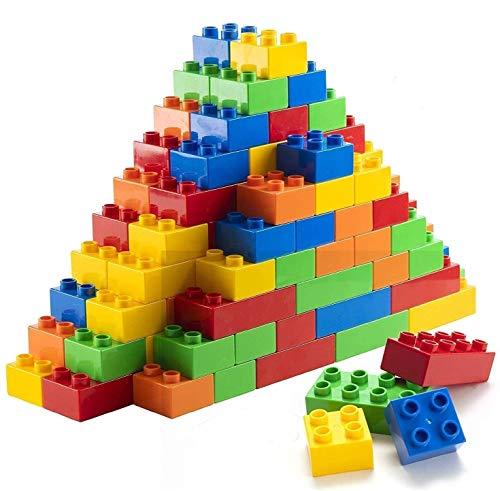 Prextex 300 Piece Classic Big Building Blocks STEM Toy Bricks Set Compatible with All Major Brands Bulk Bricks Set for All Ages