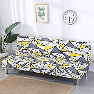 SKLXNG Slipcover Stretch Sofa Cover Without Armrest Folding Sofa Bed Cover All-Inclusive Couch Cover Big Elastic Slipcover...