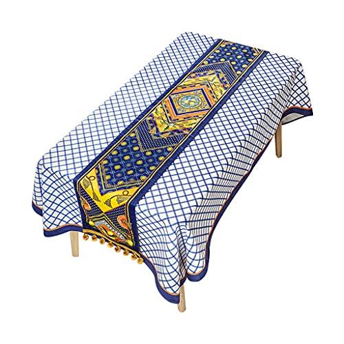 YSMLL Árbol De Limón Retro Camino De Mesa Bandera De Cama Estilo Europeo Mueble De TV Mesa De Centro Mantel Largo Paño Decorativo (Color : A, Size : 40x230cm)