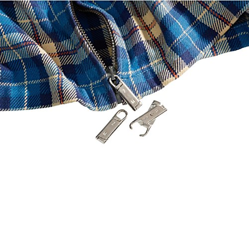 TRI Reißverschluss-Ersatz-Set, 3 Stück, Reparatur defekter Reißverschlüsse Ersatz-Zipper Universalzipper Reißverschluss Reparatur Set 3 Stück 4cm lang Metall
