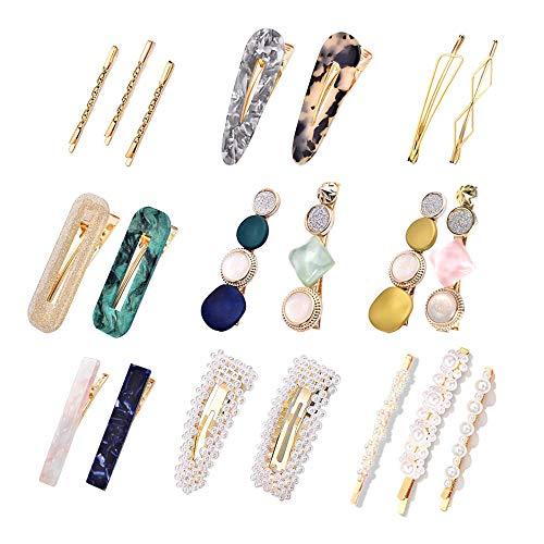 Perle Haarspange Damen, 20Pcs Perle Haarspange Haarnadeln Haar Klammer Haar Haarspangen Zubehör für Hochzeit Valentinstag Geschenke
