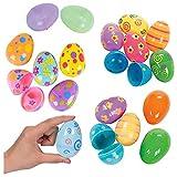 YepYes 12PCS Huevos de Pascua Coloridos Huevos de Pascua Pintados de plástico Sorpresa de Pascua Linda Regalo de los Juguetes Huevos de Pascua para Kid artículos de Fiesta