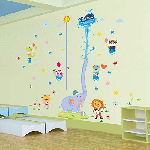 Qingyu Muurstickers, zelfklevend, olifant, klein, waterspatter, stickers, stickers voor kinderen, slaapkamer, woonkamer, decoratie