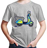 Hariz - Camiseta para niño con diseño de trenes gris claro 116 cm