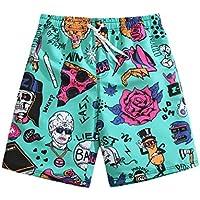 SURFASTER - Pantalones cortos de playa de secado rápido Turquesa Vintage Punk XX-Large