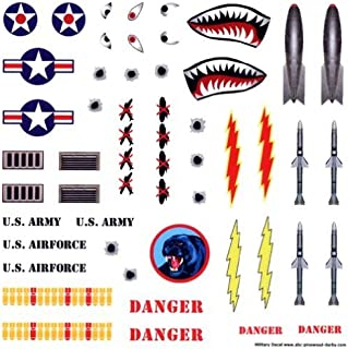 Military Pinewood Derby Car Decals