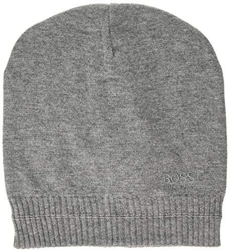 BOSS Beanie_Basic Gorro de Punto, Gris (Medium Grey), Talla única (Talla del Fabricante: ONESI) para Hombre