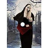 Haunted Hill Farm HHFORTTLR-1FLSA Life-Size Animatronic Witch, Indoor/Outdoor Halloween Decoration, Color 1