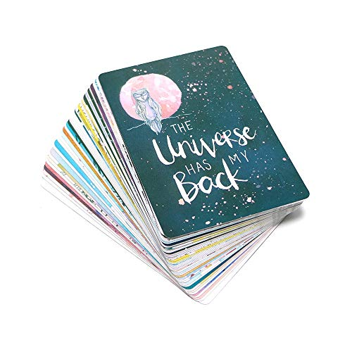 OEFHEIOWJO 2019 Universe Orakel-Karten-Deck 52 Karten, Mysteriös Tarotkarten Spiel Anleitung -Divination Glück for Frauen Brettspiel (Color : Universe)