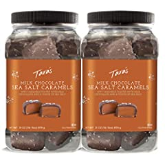 MILK CHOCOLATE COVERED CARAMEL - Premium milk chocolate Sea Salt Caramels made the old fashioned way with real butter and fresh cream -- Grandma's were so good, We didn't change them. DELICIOUS & SMOOTH - gourmet, craft quality caramel that doesn't s...