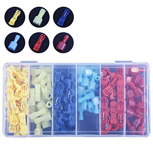 120pcs Electrical Wire Connector Assorted Insulated Crimp Terminals Kit Pack Crimp Connectors Electrical Terminals Butt Connectors Heat Shrink Wire Connector Kit Insulated Crimp Marine Automotive