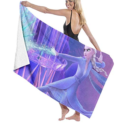 Frozen Elsa - Juego de toallas de baño (microfibra, 80 x 130 cm)