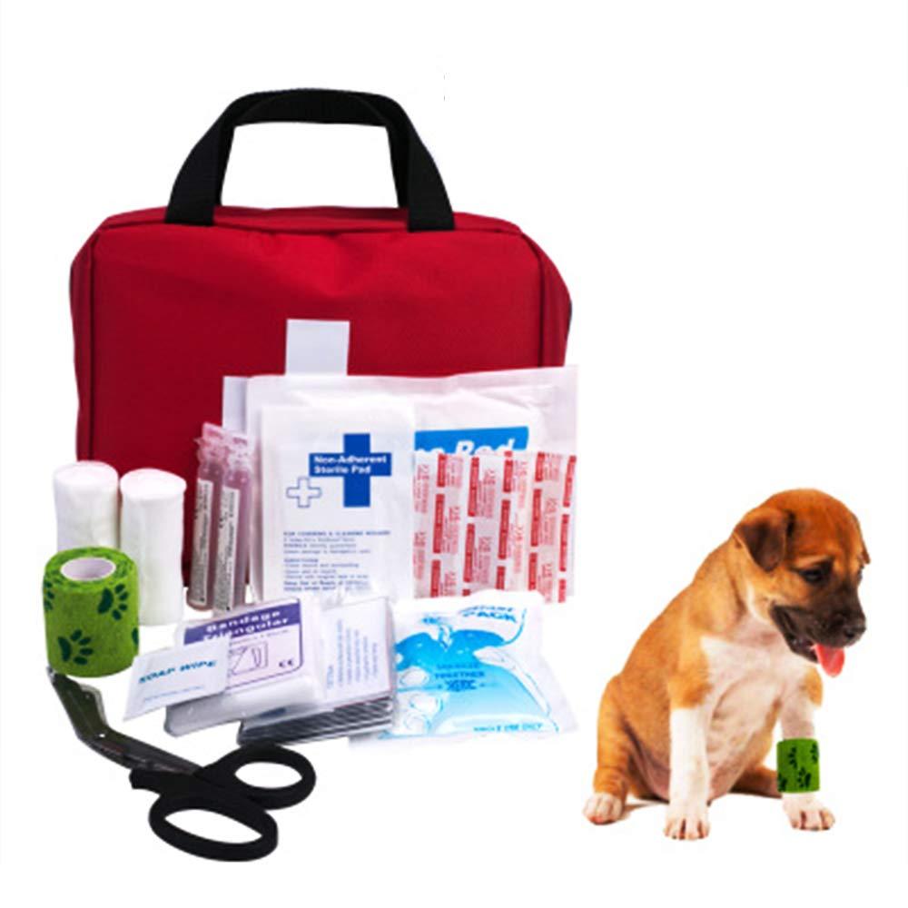 尊厳ペア音節プレミアムペット応急処置キット - 安全緊急時安全製品、毎日の犬あなたのペットが事故を起こした場合に備えて注意すること