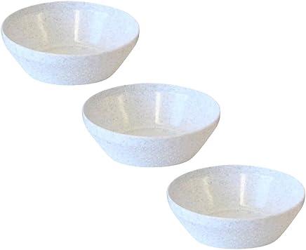 Preisvergleich für Dessertschalen 3er Set granit-weiß, Kunststoff Ø 10,5 cm, Kompottschüssel