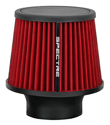 Spectre Universal Clamp-On Air Filter: High Performance, Washable Filter: Round Tapered; 3 in (76 mm) Flange ID; 6.5 in (165 mm) Height; 6 in (152 mm) Base; 4.75 in (121 mm) Top, SPE-9132