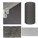 Comercial Candela Alfombra de Pasillo de Textil Resinado Antimanchas, Lavable | Base PVC Antideslizante y Aislante Diseño Lluvia Color (Trazos Oro, 65_x_250 CM)