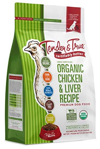 Tender & True Organic Chicken & Liver Recipe Dog Food, 20 lb