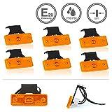 LED-MARTIN® 6er Sparset SU3 Umrissleuchte - inkl. Halter - gelb/orange - zugelassen für den...
