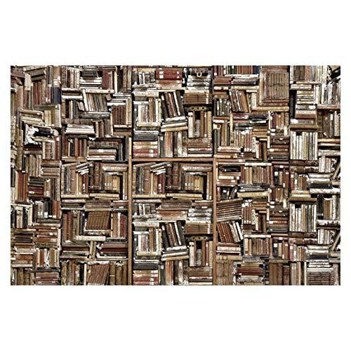 Tapete selbstklebend - Shabby Bücherwand - Fototapete Querformat 190 x 288 cm