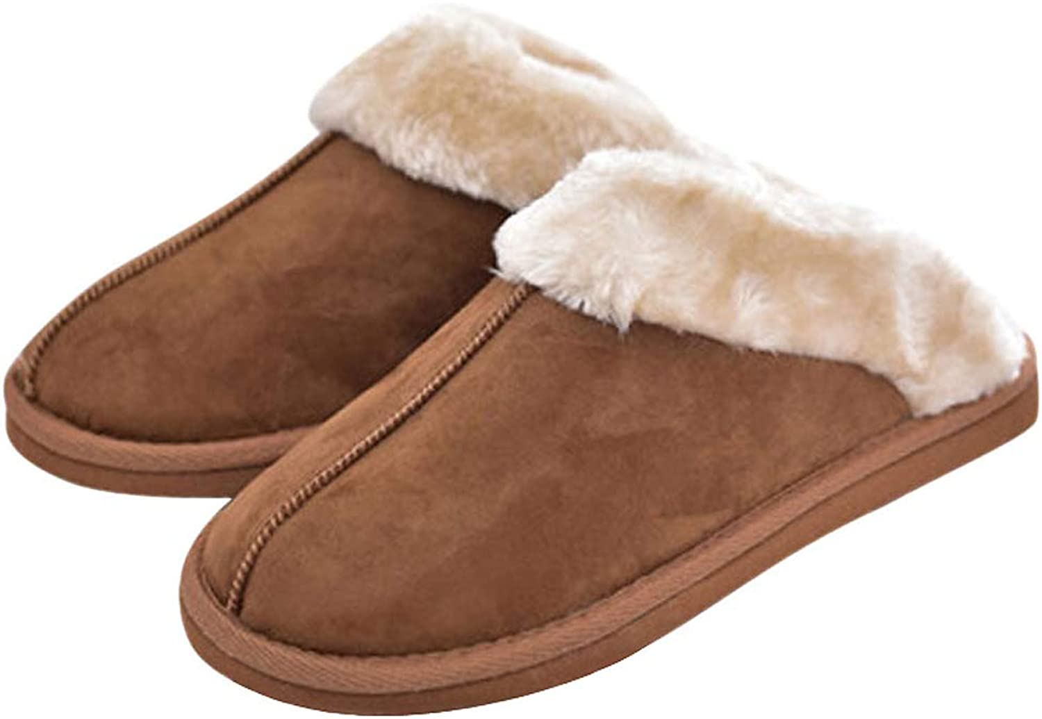 ALOTUS Unisex Memory Foam Slippers with Warm Thick Fur Indoor Outdoor
