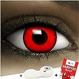 FXCONTACTS Farbige Kontaktlinsen Volturi Vampir, in rot inklusive Kunstblut Kapseln und Kontaktlinsenbehälter, 1 Paar Linsen (2 Stück) weich, mit Stärke -5.0