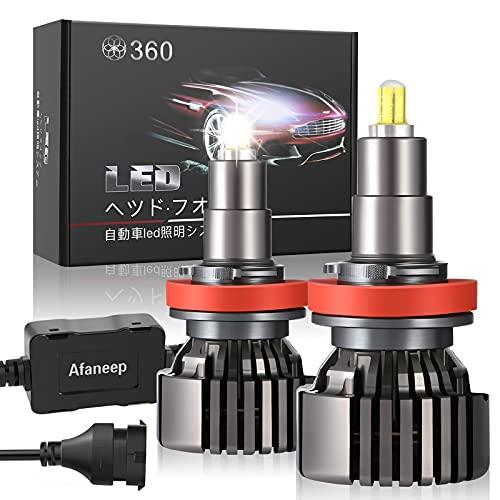 Lampadine H8 H9 H11 LED, 72W 16000LM Fari Abbaglianti o Anabbaglianti per Auto Kit - 36 SMD 360° Chips Nessuna Polarità Kit Lampada Sostituzione per Alogena Lampade e Xenon Luci - 2 Anni Di Garanzia
